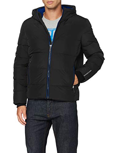 Superdry Mens Sports Puffer Quilted Jacket, Black, X-Large