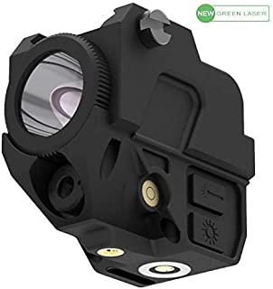 Laspur Tactical Sub Compact Rail Mount Laser Sight with High Lumen Flashlight Light Integrated Combo, Built-in USB Magnetic Touch Rechargeable Battery Accessory