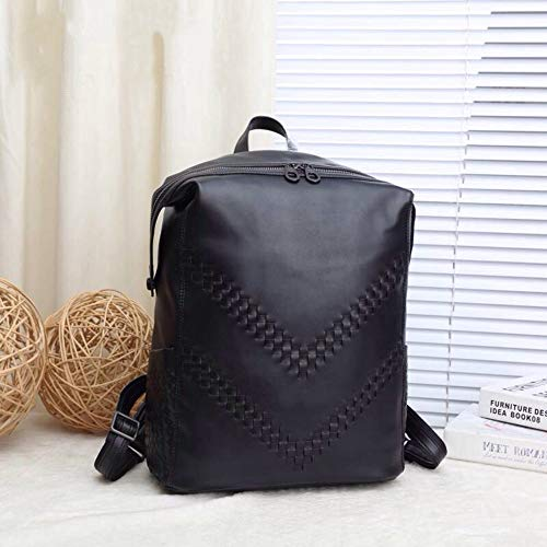 Sebasty Leather Man Bag Fashion Casual Shoulder Bag Large Capacity Luggage Bag Men Outdoor Leisure Backpack 30 * 15 * 40cm