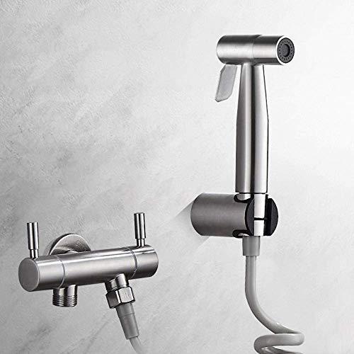 Busirsiz WC ducha orientable musulmanes pañal de tela pulverizador for el lavado posterior - 304 Acero inoxidable higiénico Companion alta presión del arma de aerosol presurizado Flushing grifo de lim
