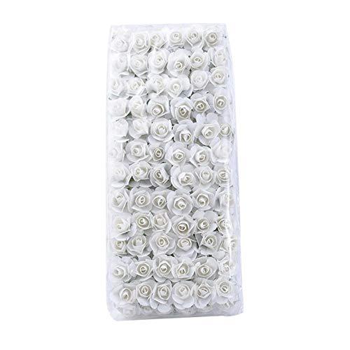 144 Stück Künstliche Blumen Mini 1.5CM Papierrosen Hochzeit dekorative Blumen Blumenstrauß Vasen für Wohnkultur Weihnachtsgirlande, 3,72 Stück