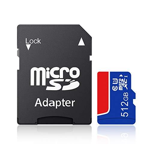 ZETOOMK マイクロ メモリーカード 512GB メモリーカード A1規格 セキュリティカメラ適用 SD変換アダプター付属-C(512GB)