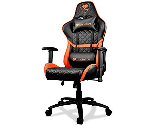 Cougar Armor One Gaming Chair with Reclining and Height Adjustment (Black and Orange)
