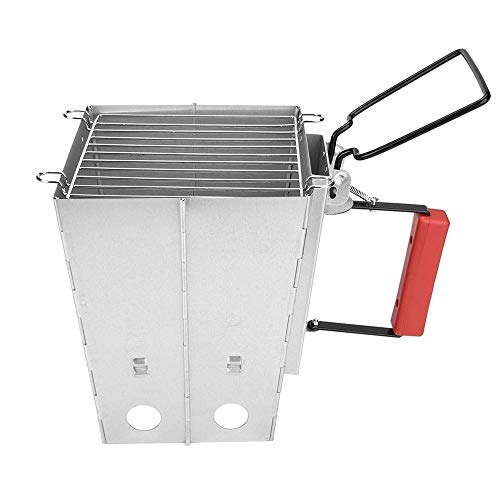 YFGQBCP Small Outdoor Grill Oven Charcoal Stainless Steel 3-8 People Portable Backyard Cooking Smoker Outdoor Camp Picnic Barbecue Cooker