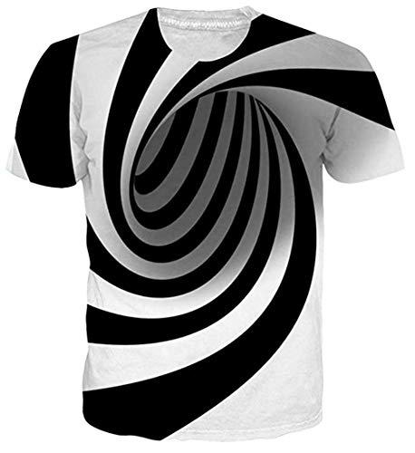 uideazone Damen Cool Galaxis Tee Tops Neuheit Männer Rundhals T-Shirt