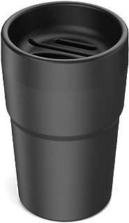 M/ülleimer Multifunktional Taschent/ücher kreativer Mini-Kunststoffabdeckung Auto B/üro Auto-M/ülleimer M/ülleimer grau f/ür Zuhause M/ünz-//Becherhalter