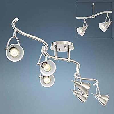 Swell 6-Light Brushed Nickel Bell LED Track Fixture - Pro Track