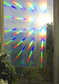 Decorative Window Film Holographic Prismatic Etched Glass Effect - Fill Your House with Rainbow Light 23