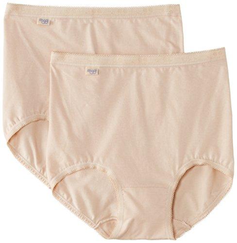 Sloggi Damen Taillenslip Sloggi Basic Maxi 2er pack, Beige - Beige (hautfarben), 54 (Herstellergröße: 26)