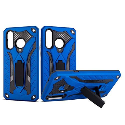 COOVY® Cover für Samsung Galaxy A8s SM-G8870 Bumper Hülle, Hülle Doppelschicht aus Plastik + TPU-Silikon, extra stark, Anti-Shock, Standfunktion   blau