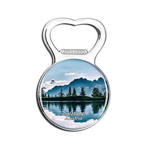 Weekino Salzburg Alpine Austria Bier Flaschenöffner Kühlschrank Magnet Metall Souvenir Reise Gift