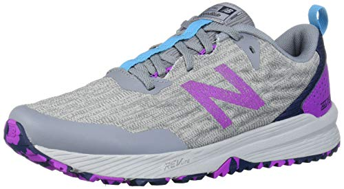 New Balance Women's Nitrel V3 Trail Running Shoe, Steel/Voltage Violet, 8.5 B US