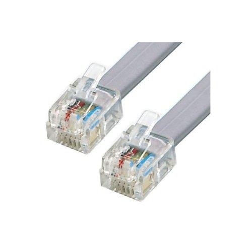 25 m ADSL-kabel - Premium Kwaliteit/Vergulde Contactpennen/High Speed Internet Breedband/Router of Modem naar RJ11 Telefoonaansluiting of Microfilter/Wit
