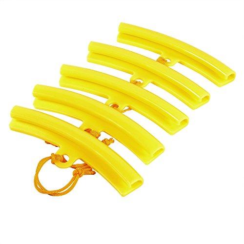 Keenso 5 Pcs Protection de Jante, Protège Bord de Roue Protecteurs de Pneu pour Montage Démonte Pneus Moto Auto Vélo Outil Orange Jaune(Yellow)