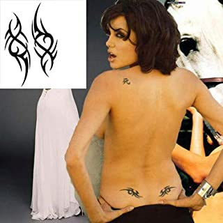 Extra Fake Temporary Tattoo For Guys For Man, Black Tattoo Stickers Body Arm Shoulder Chest Bottom & Back Make Up - Symbols Often Used By Stars Rapper And Hipsters Contains 3 Sheets