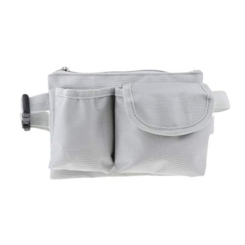 Sharplace Sac de Taille Poches Multi-usages pour Maison, Garage, Camping Ou Hôtel Ktv, Serveur, Caissier De Restaurant - Gris, 21 x 15 cm