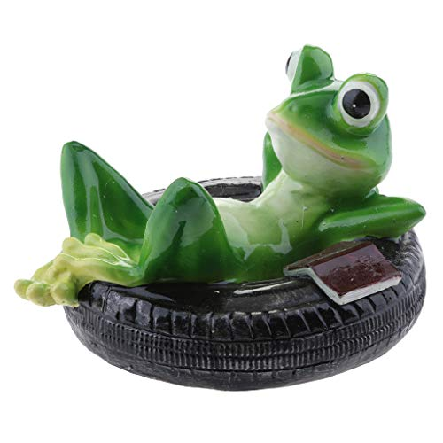 D DOLITY Schwimmfrosch auf Blatt Schwimmtier Grten Teich Deko, Schildkröte in verschiedenen Bildung - E # Reifen Frosch