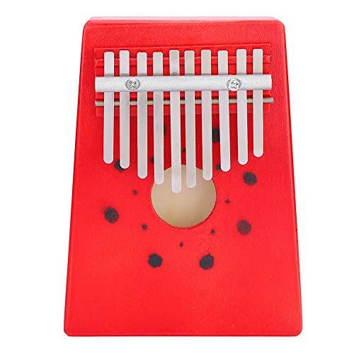 Holz Daumen Klavier Kalimba 10 Tasten Das Daumen Klavier Finger Klavier Kalimba Daumen Klavier Musik für Anfänger Kinder(red)