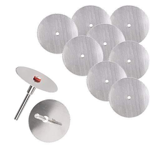 Gaocunh Juego de 12 cuchillas de sierra circulares HSS para taladros Dremel