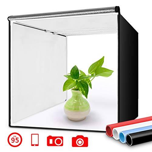 Travor Photo Box 16'/40cm Photo Studio Light Box Portable Photography Shooting Tent with Movable LED...