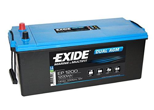 Exide Ep1200 double AGM Leisure Marine batterie 140 Ah