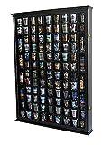100 Shot Glass Display Case Holder Shadow Box Wall Cabinet, with Acrylic Door (Black Finish)