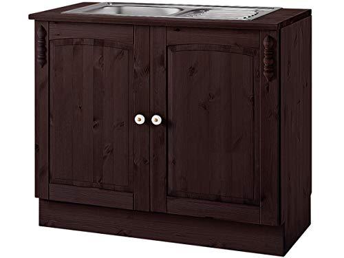 Loft24 A/S 2-TRG. Küchenunterschrank Küchenzeile Küchenschrank Havana Schrank Küche Kiefer massiv 100 x 50 x 85 cm