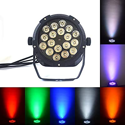Boulder LED Flat Par Waterproof IP65 Outdoor 18x18w RGBWA 6in1 Wash Stage light DMX512 for TV studio, theater, auditorium, stage, T-stage, concerts … (18X18W 6in1)