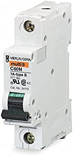 MG24114 SQUARE D Supplementary Protector Breaker Multi 9 (C60N) 6 AMP, 1 Pole, 240 Vac, DIN Rail (35mm) 6A 1P