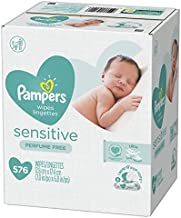 Pampers Baby Diaper Wipes Sensitive 9X Refill, 576 Count