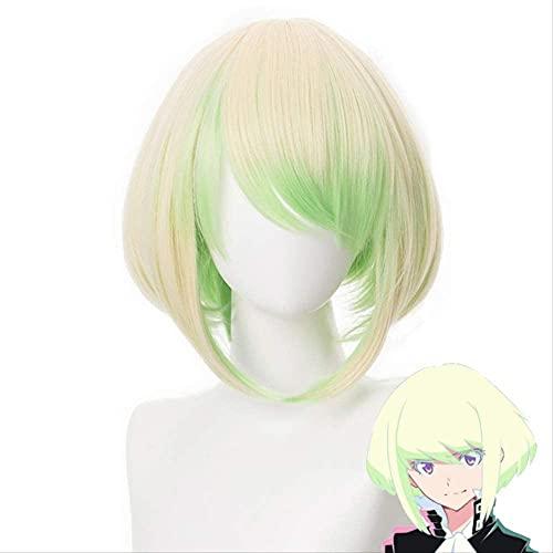 PROMARE Mad Burnish Lio Fotia 35 cm corto recto resistente al calor pelo sintético anime Cosplay peluca + peluca Cap