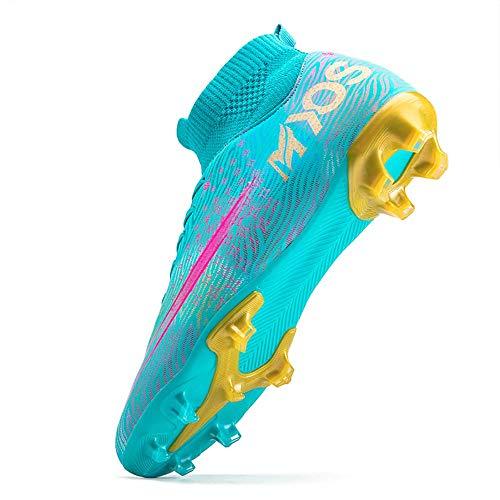 Einplus High Top Nieten-Turnschuhe, professionelle Turnschuhe, Wettkampfschuhe Herren-Fußballschuhe Jungen Fußball Leichtathletik-Schuhe