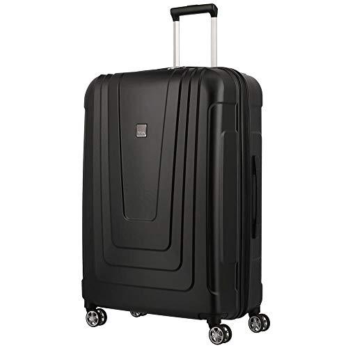 TITAN Koffer 4-Rad groß mit TSA Schloss, Made in Germany Gepäck Serie X-RAY: Robuster Hartschalen Trolley aus ultraleichtem Material, 700844-01, 77 cm, 102 Liter, atomic black (schwarz)