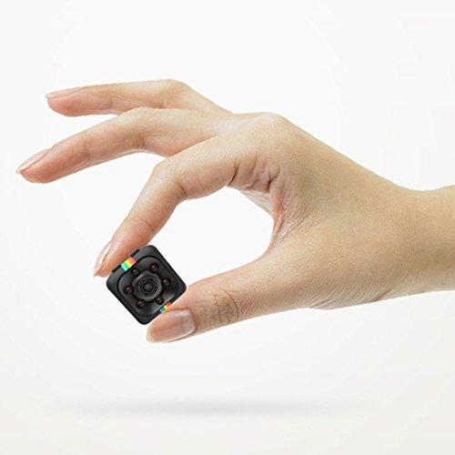 Mini KameraFull HD 1080P Tragbare Kleine Uberwachungskamera mit Bewegungserkennung und Infrarot NachtsichtIntelligente Loop Aufnahme