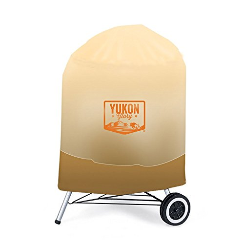 Yukon Glory Glorious Montana 7453 Premium Kettle Cover, Fits 22.5-Inch Charcoal Grills in Tan & Brow - http://coolthings.us
