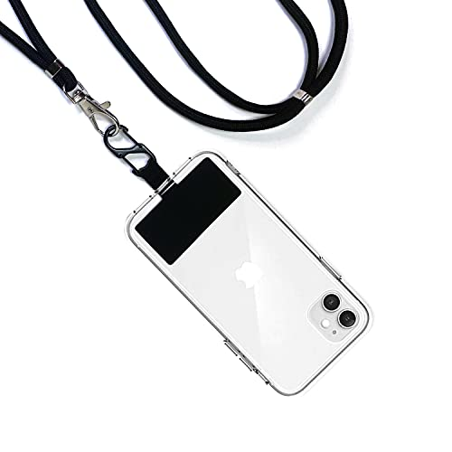 Got Phone Leash, Retractable Phone Reel Pad, Phone Lanyard for iPhone, Samsung and Most Cellphone Cases Best for Travel, Theme Parks, and Active Sports (Crossbody)