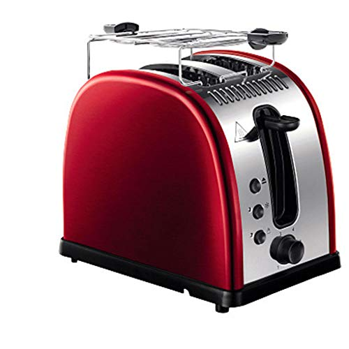 KM- Grille-pain Sl Large 2 fentes avec boîtier en acier inoxydable chromé, décongélation/bagel/annuler et confiture de pain