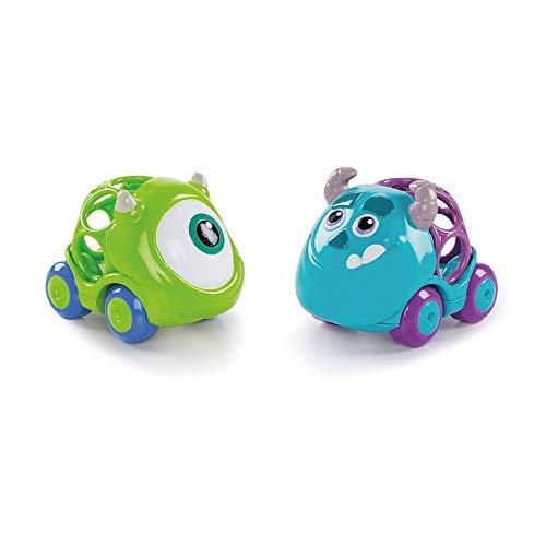 Bright Starts, Disney Baby Monster AG Go Grippers Autos aus robustem, leicht greifbarem Material, perfekt für unterwegs, ab 12 Monaten