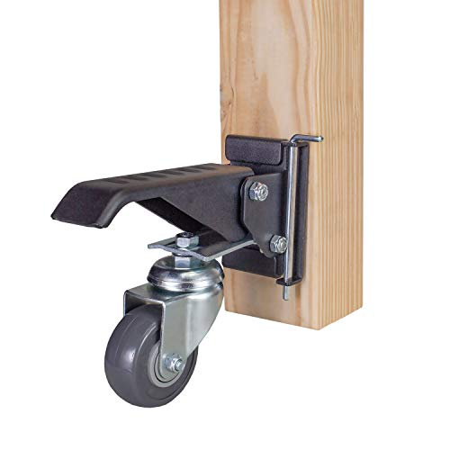 POWERTEC 17002 Workbench Casters with Quick-Release Plates, 4 Sets