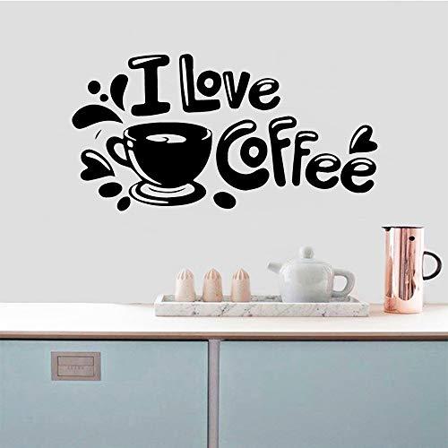 SLQUIET 3D Kaffee Wandtattoos Vinyl selbstklebende Tapeten entfernbare Wandtattoos Wandtattoos Mode Wandtattoos Grau L 42cm X 81cm
