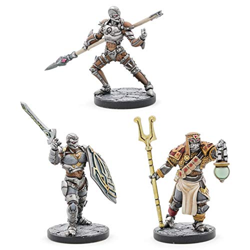 D&D: Eberron Warforged Monk, Cleric & Fighter - Juego de 3 Figuras
