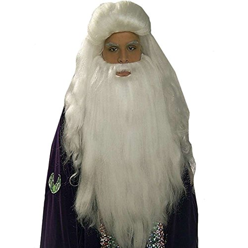 FORUM White Sorcerer Wig and Beard Set Costume Accessory
