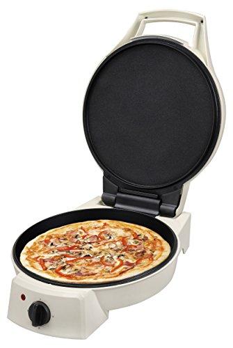 Team Kalorik Poêle à Pizza Électrique, Couvercle 180°, 1800 W, Blanc, TKG PZP 1002 KTO