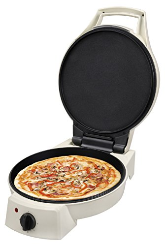 Team Kalorik Electric Pizza Maker, 180° Folding Lid, 1800W, White, TKG PZP 1002 KTO