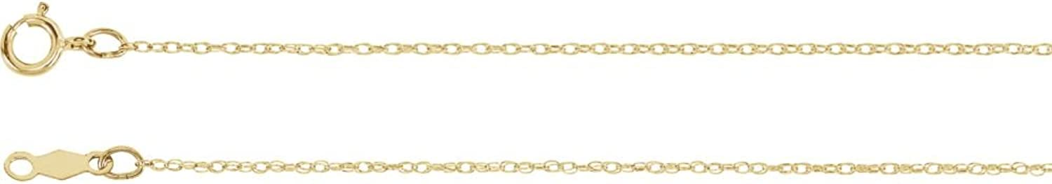 Beautiful Yellow gold 14K Yellowgold .75Mm Rope Chain With Spring Ring