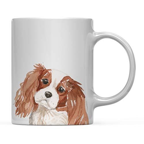Regalo de Taza de café para Perro, Cavalier King Charles Spaniel de Cerca, cumpleaños de Amante de los Animales domésticos para su Familia 11 oz
