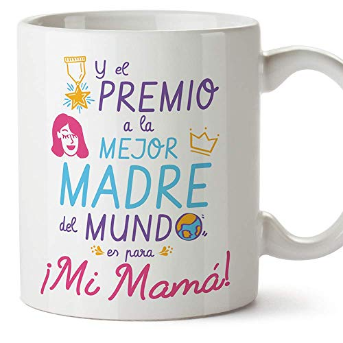MUGFFINS Tazas para Mamá –'Premio a la mejor madre' (Modelo 3) – Regalos para el día de la Madre/Desayunos originales