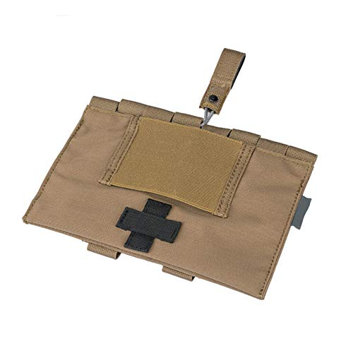 Yuan Ou Trousse de Secours Tactical Medical Pouch Organizer First Aid Kit Bag Medical Emergency L20xW14cm Coyote Brown