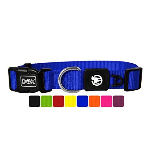 DDOXX Hundehalsband Nylon, verstellbar   viele Farben & Größen   für kleine & große Hunde   Halsband Hund Katze Welpe   Hunde-Halsbänder   Katzen-Halsband Welpen-Halsband klein   Blau, M