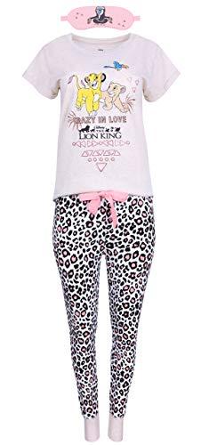 Pijama Color Beige de Leopardo + máscara El Rey león The